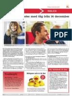 Fler Resmöjligheter Med Tåg Från 14 December