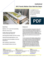 SolarWall Case Study - NYC Transit, Mother Clara Hale Bus Depot solar air heating system