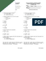 Exercícios números  Complexos