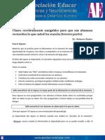 Clases Cerebralmente Amigables Para Que Sus Alumnos Recuerden Lo Que Usted Les Enseña (Tercera Parte). Www.asociacioneducar.com__0