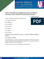 Clases Cerebralmente Amigables (Primera Parte). Www.asociacioneducar.com