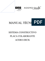 Manual Acero Deck Sencico