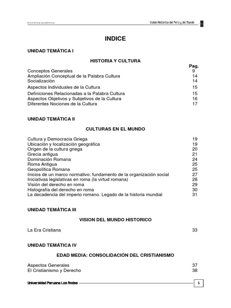 Vision Historica Del Peru y El Mundo