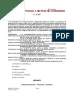 Ley 29571 Codigo de Proteccion y Defensa Del Consumidor