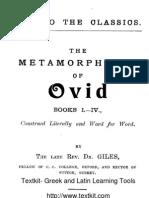 RDG Ovid Metamorphoses 1-4