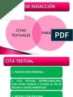 Citax Textuales y Parafrasis