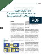 Caracterización del comportamiento mecanico de campos petroleros en mexico