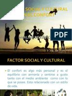 Factor Social y Cultural en El Confort