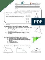 Ficha Reforço Nº4 Teorema de Pitagoras