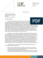 NAACP LDF Letter to Mayor de Blasio Regarding Eric Garner Choking Death Grand Jury Decision