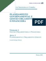 Planejamento Governamental Unidade 2 Aula1