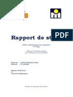 Rapport de Stage Marjane Holding