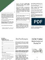 Dow Farm 2015 Brochure