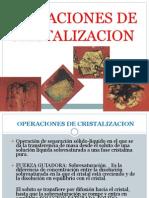 Operaciones de Cristalizacion