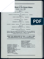 Documentation of Cases Condensed Into Brown v. Board of Education