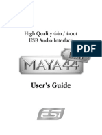 Maya44 Usb English