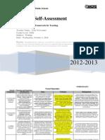 teacher self-assessment fall 2014