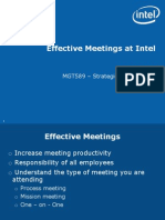 Intel Effective Meetings