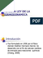 Tercera Ley de La Termodinamica