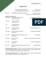 leigh green resume 2014