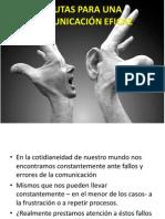 Pautas Para Una Comunicación Eficaz