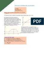 Teorema de Rolle y Teorema Del Valor Medio