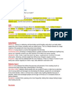 Science- PDHE Study Notes Year 9