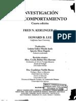 Investigacion Del Comportamiento - Kerlinger Fred N-libre