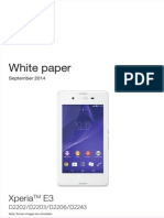 Sony Xperia E3 White Paper (September 2014)