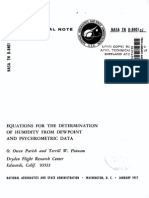 Equations for Determining Humidity from Dewpoint and Psychrometric Data