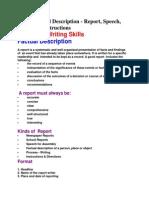 Factual Description - Report, Speech, Process & Instructions