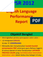 English Language Performance
