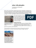 Slope Stabilization With Platepiles