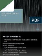 Acuerdo Nacional –Perù 2012