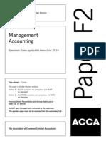 F2 Specimen Exam 2014