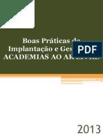 Praticas Academia Ar Livre GOV-MG 2013