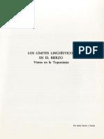 Límites entre el Gallego y el Leonés en la Toponimia Berciana