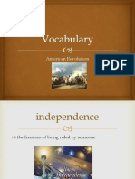 vocabulary american revolution 1 13 14