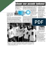 Artikel Kalusha Foundation in de Telegraaf