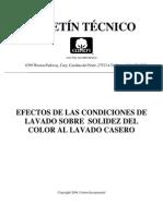Efectos de Condiciones de Lavado y El Color