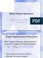 Metal Redox Reactions