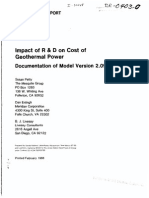 Impact of R&D on Cost of Geothermal Power