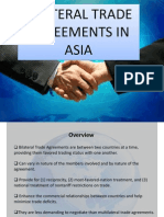 Bilateral Trade Agreement in Asia