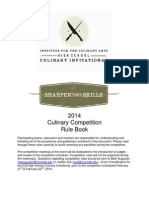 2014 ICA Culinary Competition - Rule Book