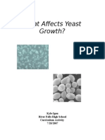 Yeast Growth