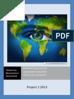 Project 2 Internationalization and Market Research E2013