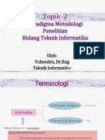 Paradigma Metodologi Penelitian Bidang Teknik Informatika