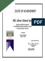 SA8000 Advanced Auditor Course