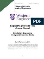 ES 1050 Course Manual Fall 2014