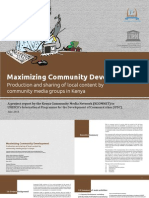 Production and sharing of local content by community media groups in Kenya